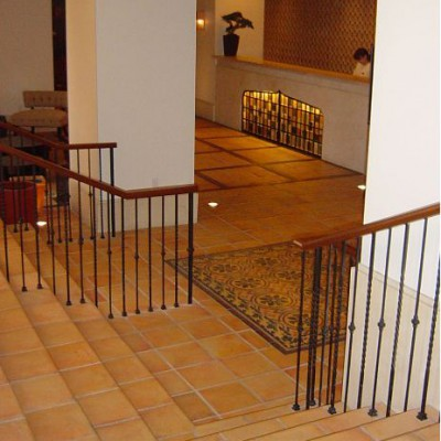 Concrete Tile Flooring In Living Room And Bedroom