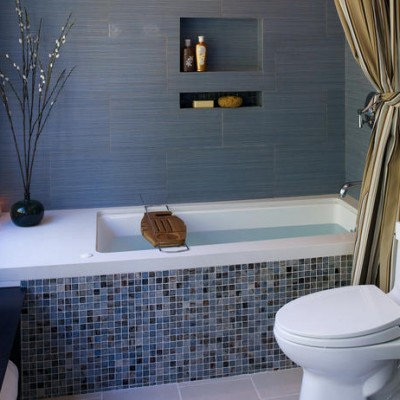 Porcelain Trend Glass Tile Bathtub