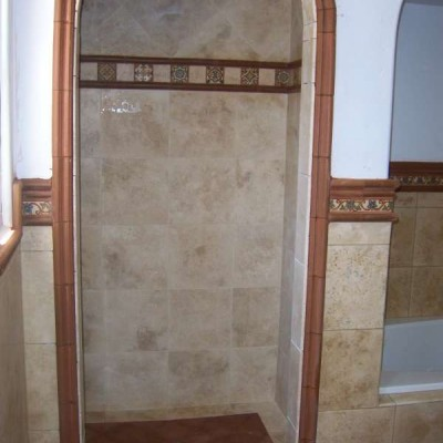 Porcelain with liner shower