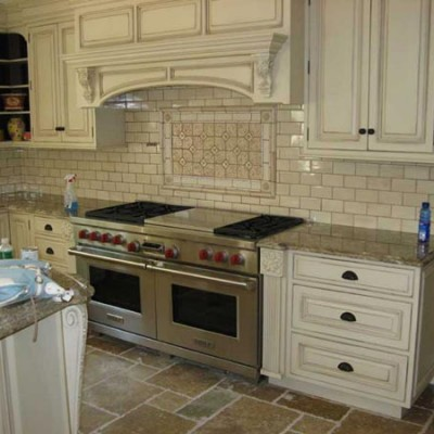 Subway tile with mosaic backsplash