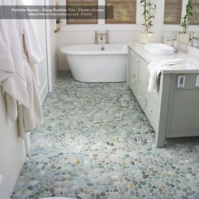 Flores green bathroom