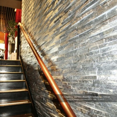 Silver rustic stairs