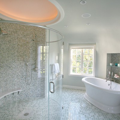 Alyse Edwards full glass bathroom