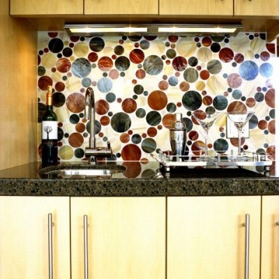 Alyse edwards Bubblicious Glass Tile Kitchen Backsplash