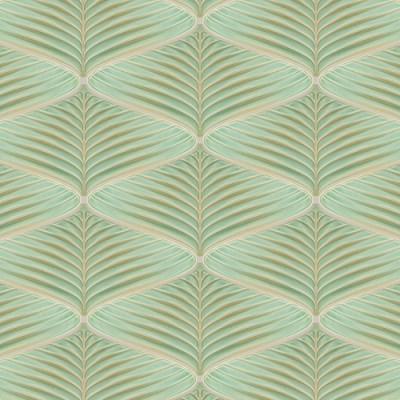 Palm Pattern Blue Grass