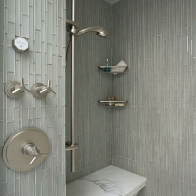 Artistic tile stilato glass shower