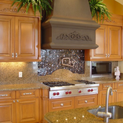 Backsplash Kitchen Contemporary Granite with Glass
