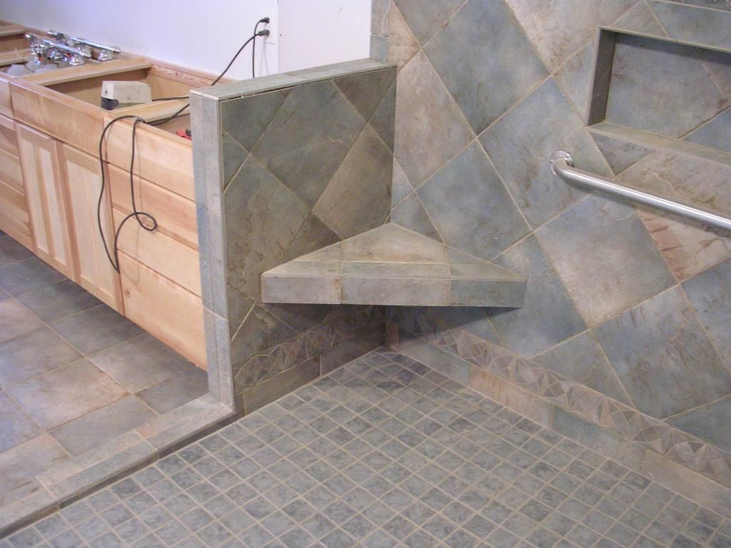 Ada Bathroom Bench better bench - a bench-forming system | westside tile and stone