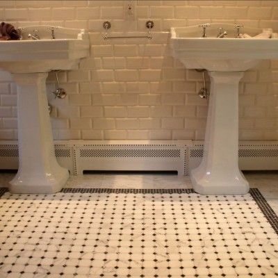 Beveled Cream Subway Tile