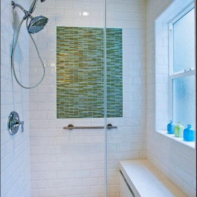 Beveled Subway Tile Shower Installation