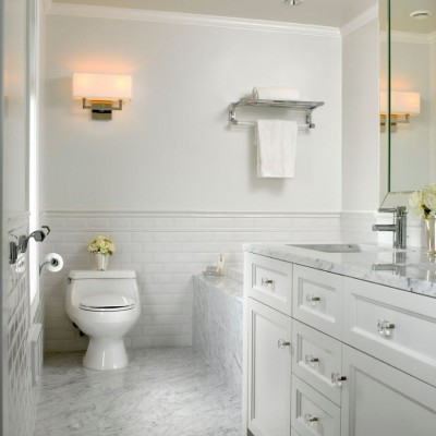 Beveled Subway Tile Wainscoting