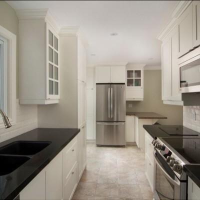 Beveled White Subway Tile Kitchen Backsplash