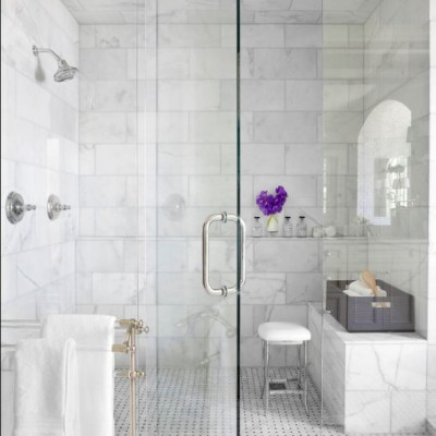 calacatta honed marble in shower. beautiful ideas. Home Design Ideas