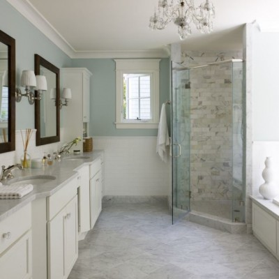 Bianco Carrara Marble Bathroom