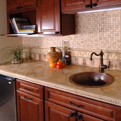 Ceramic Tile Counter Tile Backsplash