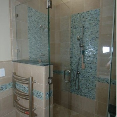 Ceramic Tile Glass Tile Shower