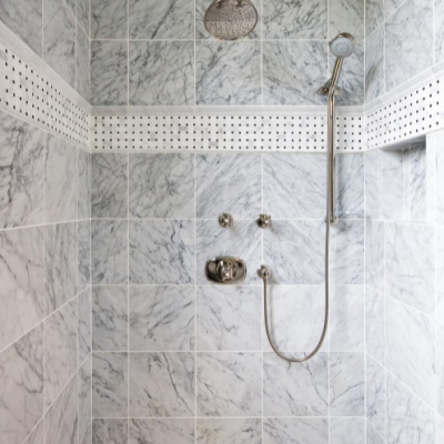 Classic White Carrara with Mosaic Floor