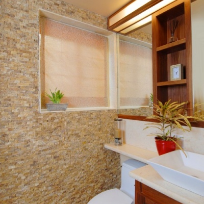 Contemporary Bathroom Mixed Splitface