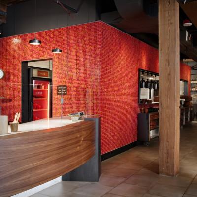 Tessera Red Non-Iridescent Restaurant