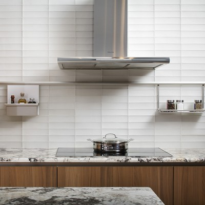 Elevations Oxygen Field Glasstile Kitcehn Backsplash