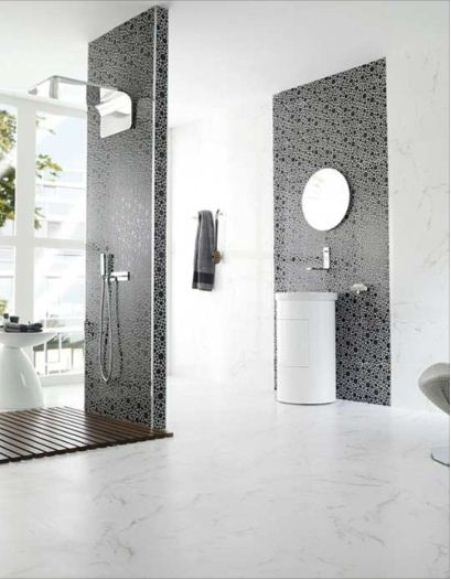 Wall tile ceramic wall tile westside tile and stone for Brillo marmol