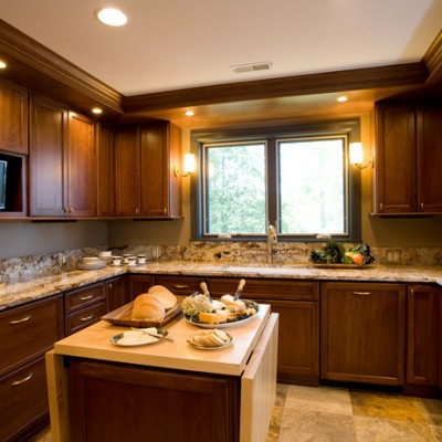 Granite Counter Yellow Travertine Floor