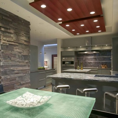 Granite Counters Ledger Stone Wall