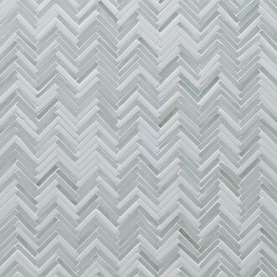 Artistic Tile Hip Herringbone Be Bop White