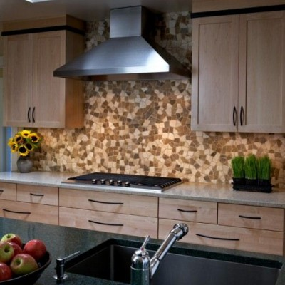 Island Stone Backsplash