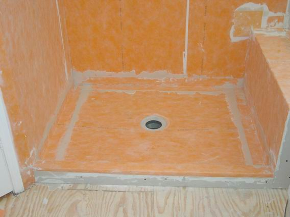 Schluter shower schluter kerdi shower system - Walk in shower base kit ...