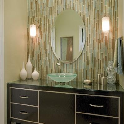 Modern Artistic Tile Stilato Glass Mosaic