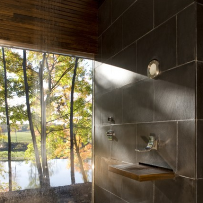 Modern Brown Porcelain Tile rain Shower