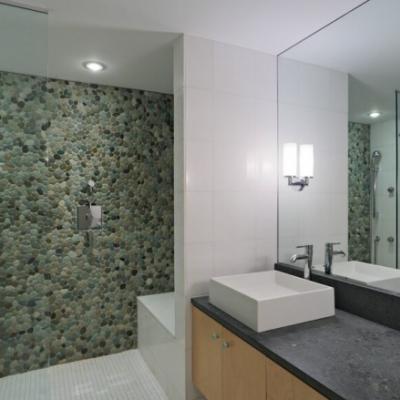 Modern Pebble Wall Glass Mosaic Floor