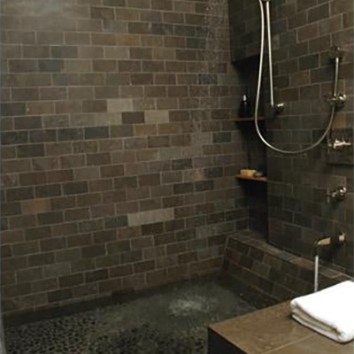 Modern Shower Dark Limestone