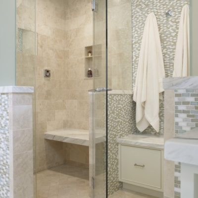Modern Shower Marble Shower Oceanside Glass