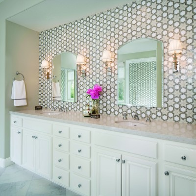 Oceanside Glasstile - Fez Master Bathroom