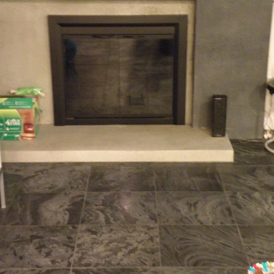 OSTRICH GREY fireplace