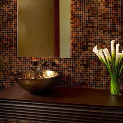 Oceana Glass Vessel Trend Glass Backsplash