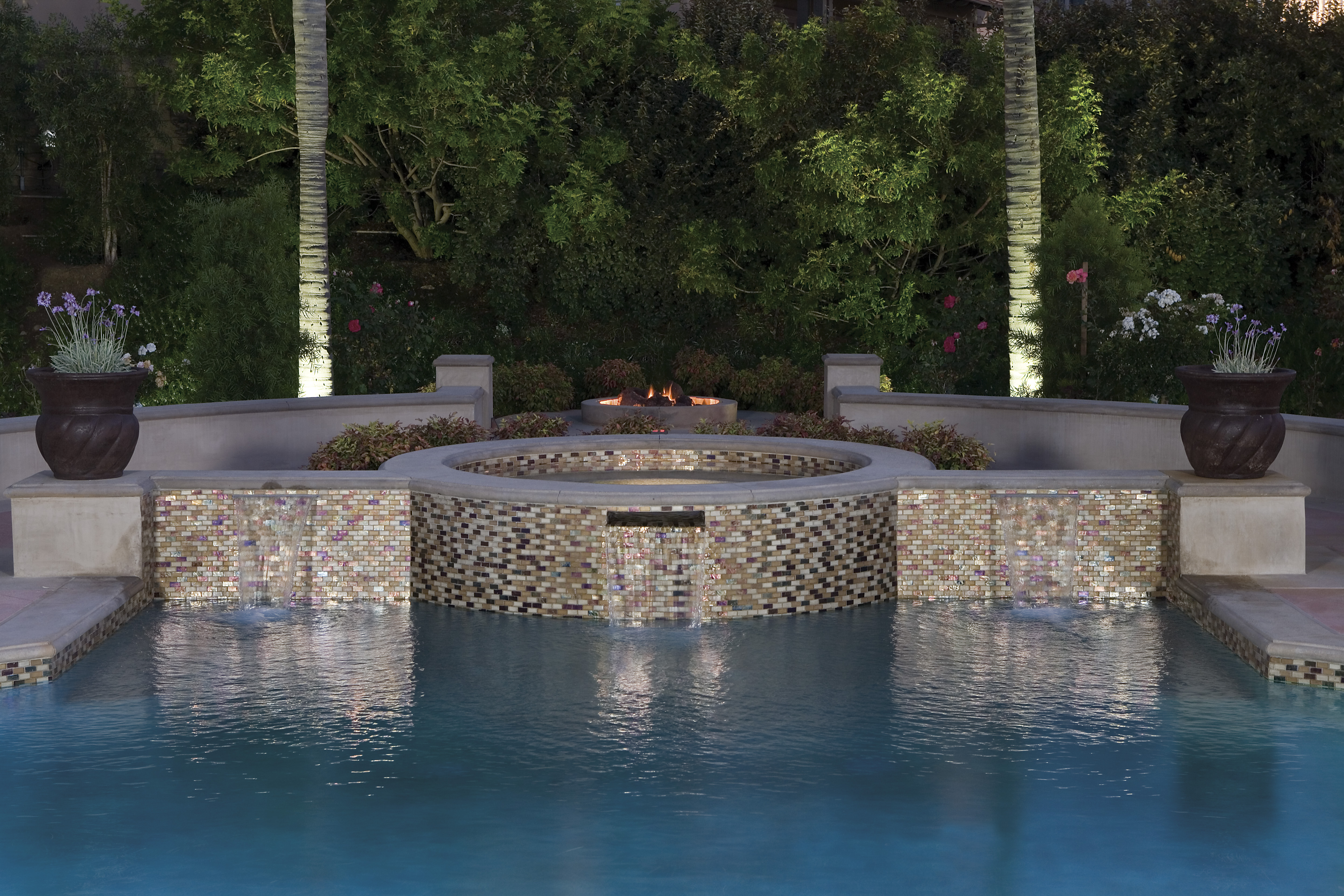 Pools westside tile and stone for Unique pool design ideas