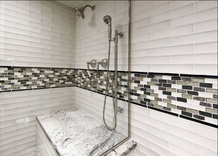 Bathroom tile bathroom designs westside tile and stone for Mosaic glass tile bathroom ideas