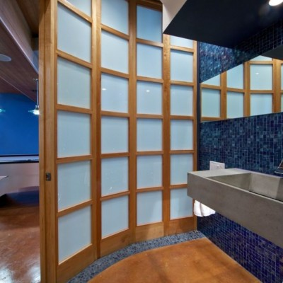 Oceanside Glass Tile Contemporary Bathroom