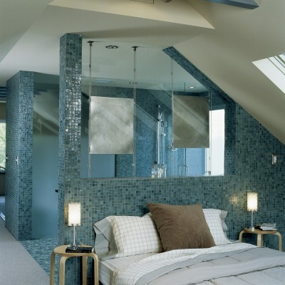 Oceanside Glass Feature Wall Bedroom
