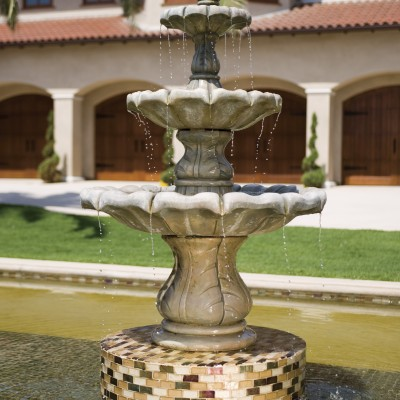 Oceanside glass mosaic fountain