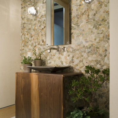 Pebble Tile Vanity
