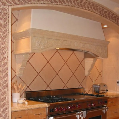 Porcelain Backsplash Mosaic Liner Surround