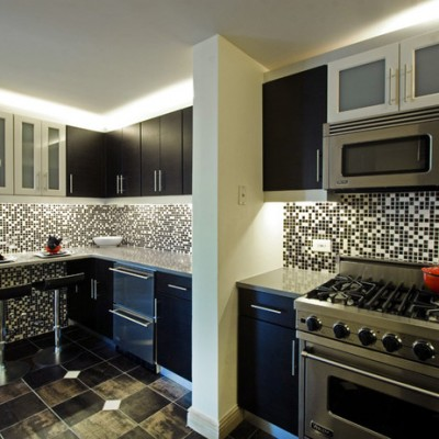 Porcelain Floor Glass Mosaic Backsplash