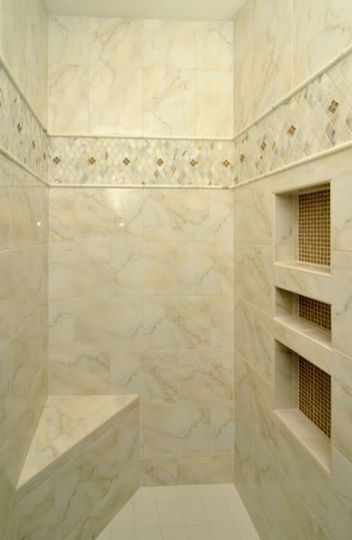 Showers westside tile and stone for Bathroom border ideas