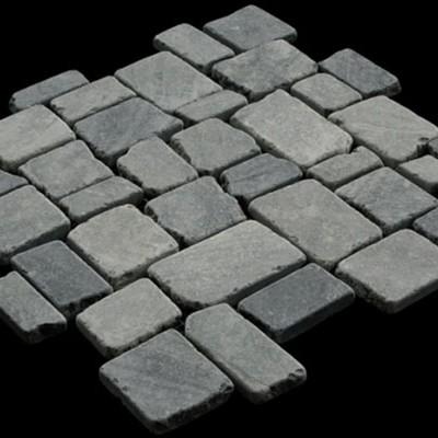 Random Squares Grey Marble