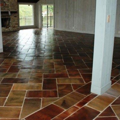 Saltillo Tile Herringbone Pattern