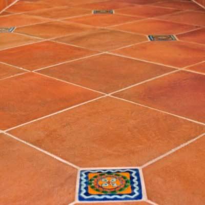 Saltillo Tile with Talavera Insert